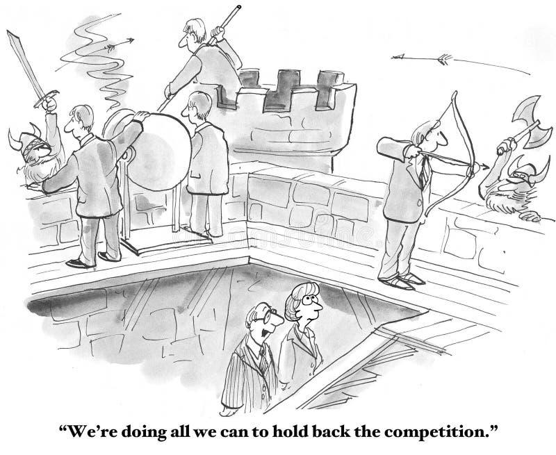 Tenga indietro la concorrenza illustrazione di stock
