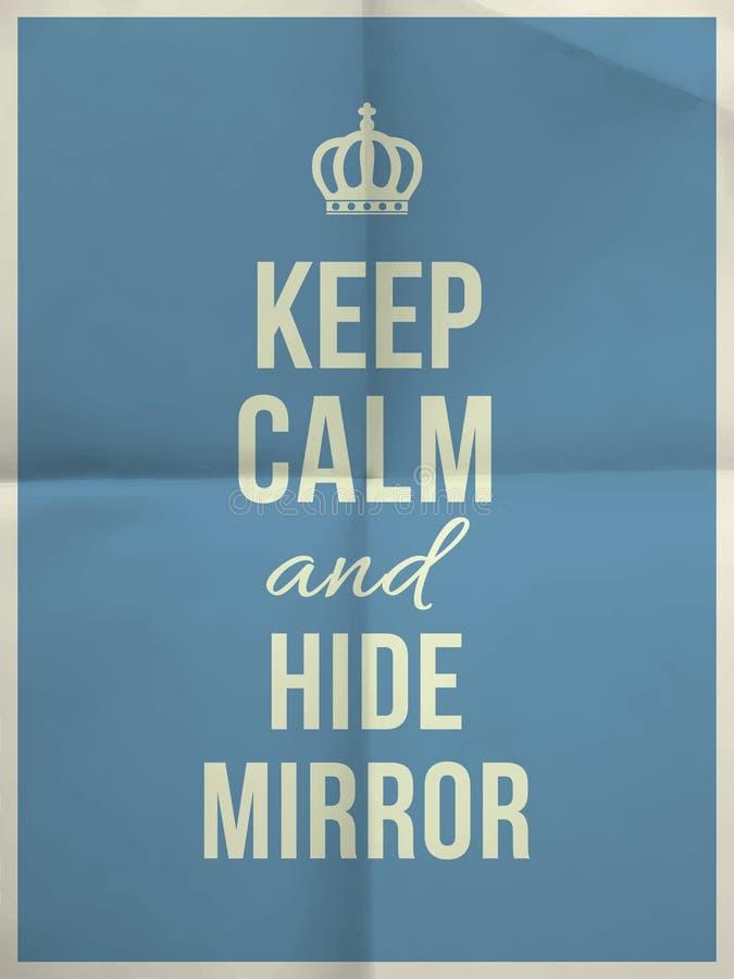 Tenga la citazione calma dello specchio del pellame sopra piegata nella struttura di carta quattro royalty illustrazione gratis