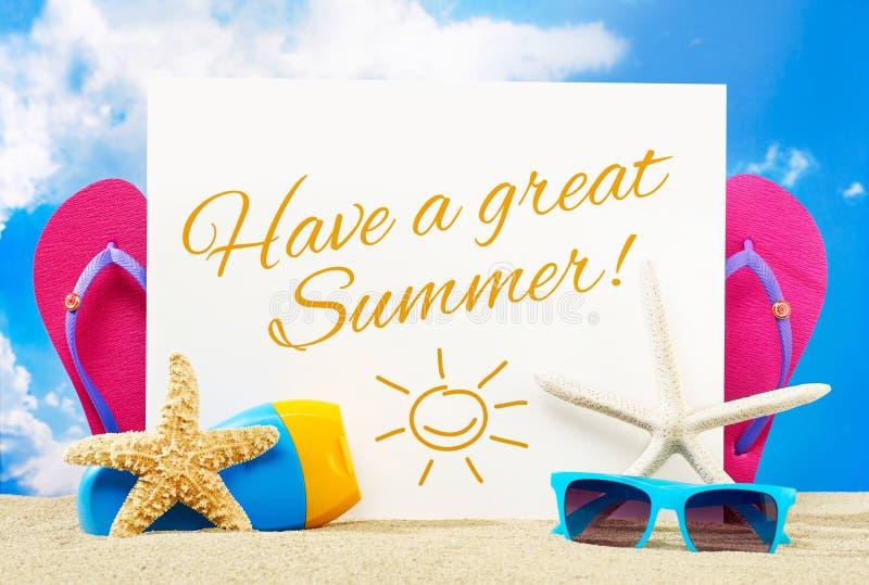 Tenga un gran verano imagen de archivo