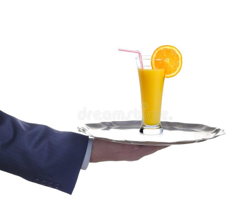 Tenga un poco de zumo de fruta foto de archivo