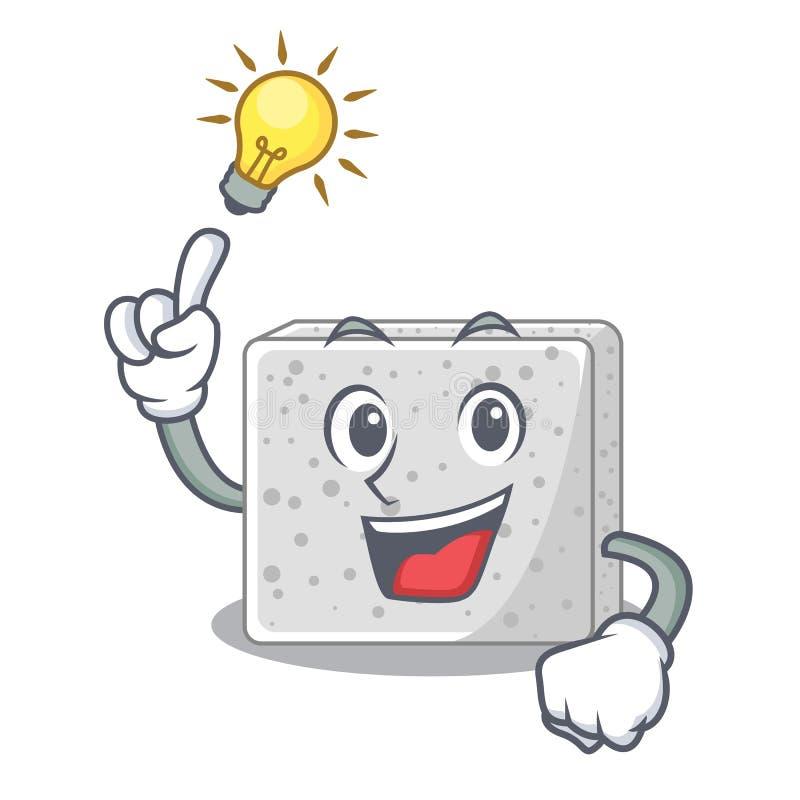 Tenga un queso feta fresco de la idea aislado en maskot stock de ilustración