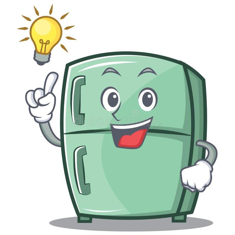 Tenga una historieta linda del carácter del refrigerador de la idea stock de ilustración
