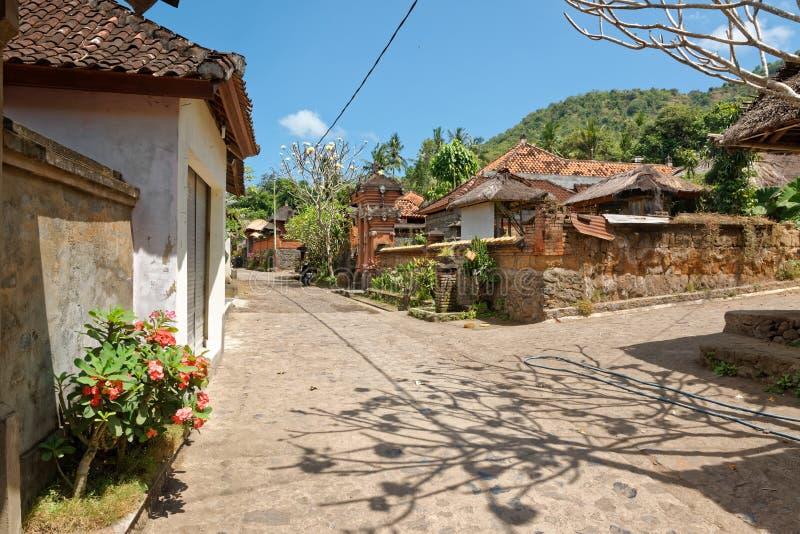 Tenganan-Dorf in Bali lizenzfreie stockbilder