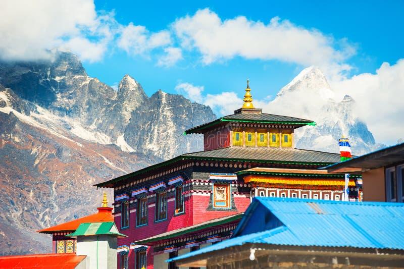 Tengboche monaster w himalaje górach Everest region, Nepal obraz stock