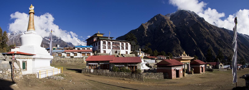 tengboche sagarmatha национального парка скита стоковые изображения