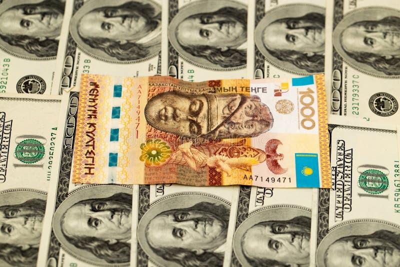 Tenge kazakh et U S Dollars photos libres de droits