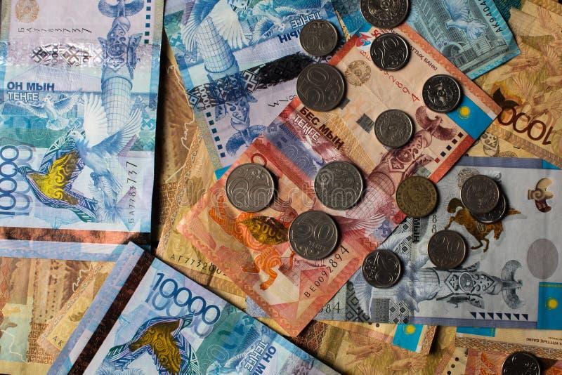 Tenge KZT Nationale valuta van Kazachstan, KZ De groei van de dollar Economie, ontwikkeling, zaken, Bank, makelaar royalty-vrije stock fotografie