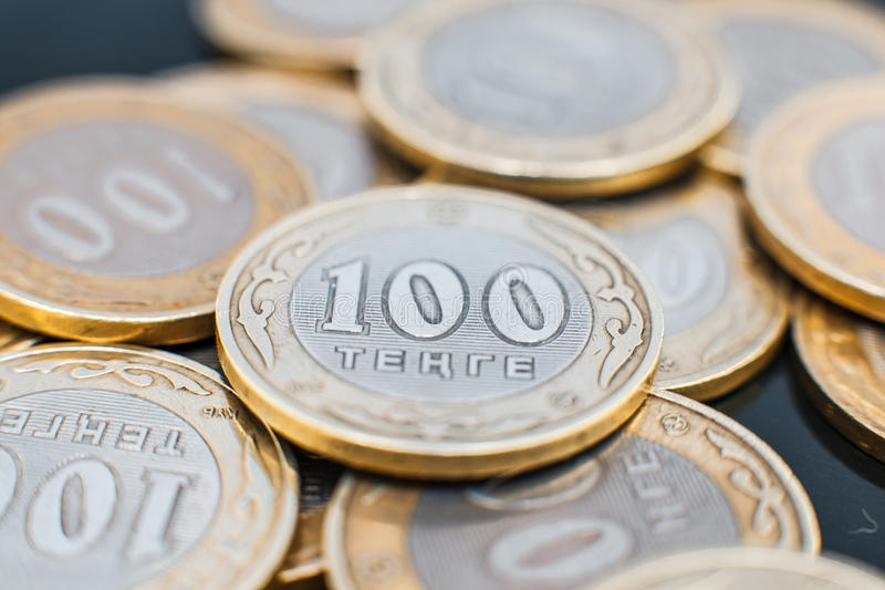 Tenge soldi kazako immagini stock libere da diritti
