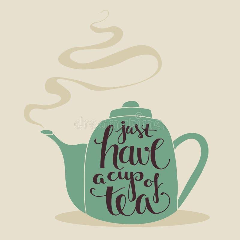 Tenha um copo do chá! ilustração do vetor