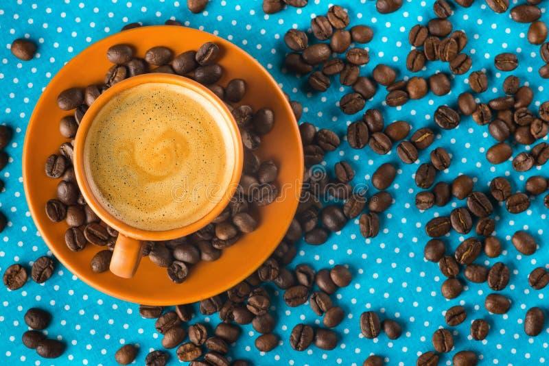 Tenha um dia agradável, bom dia com xícara de café imagem de stock