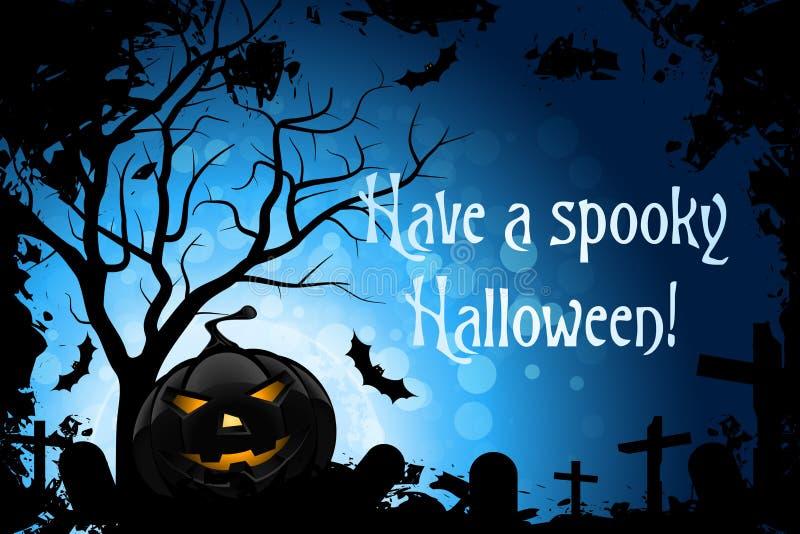 Tenha um Halloween assustador ilustração royalty free