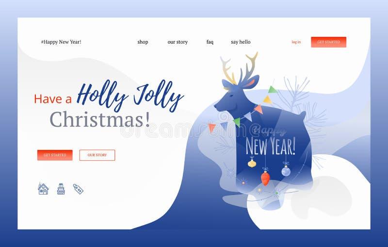 Tenha uma bandeira da Web de Holly Jolly Christmas ilustração royalty free