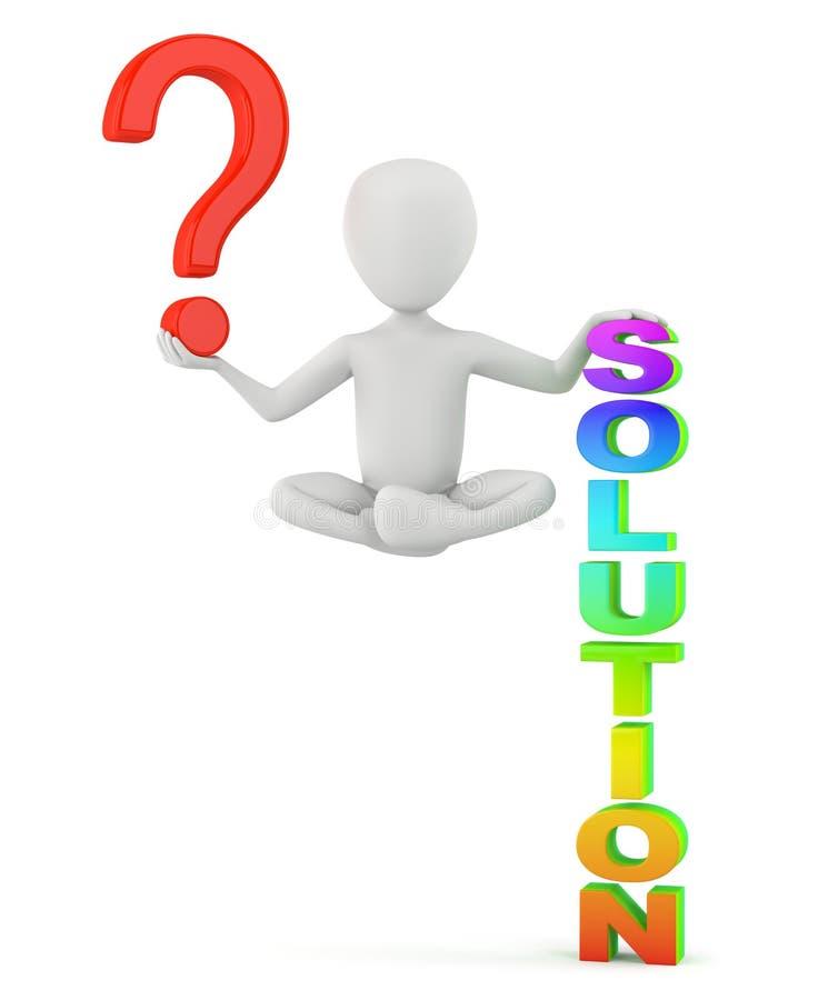 Tenha uma pergunta, haja uma solução! foto de stock royalty free