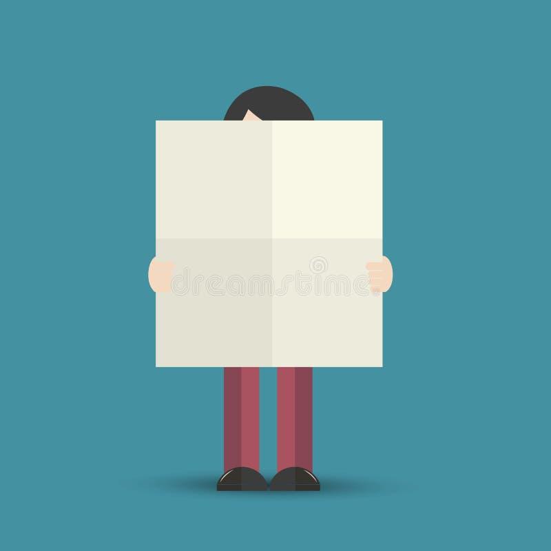 Tenir l'affiche vide illustration libre de droits