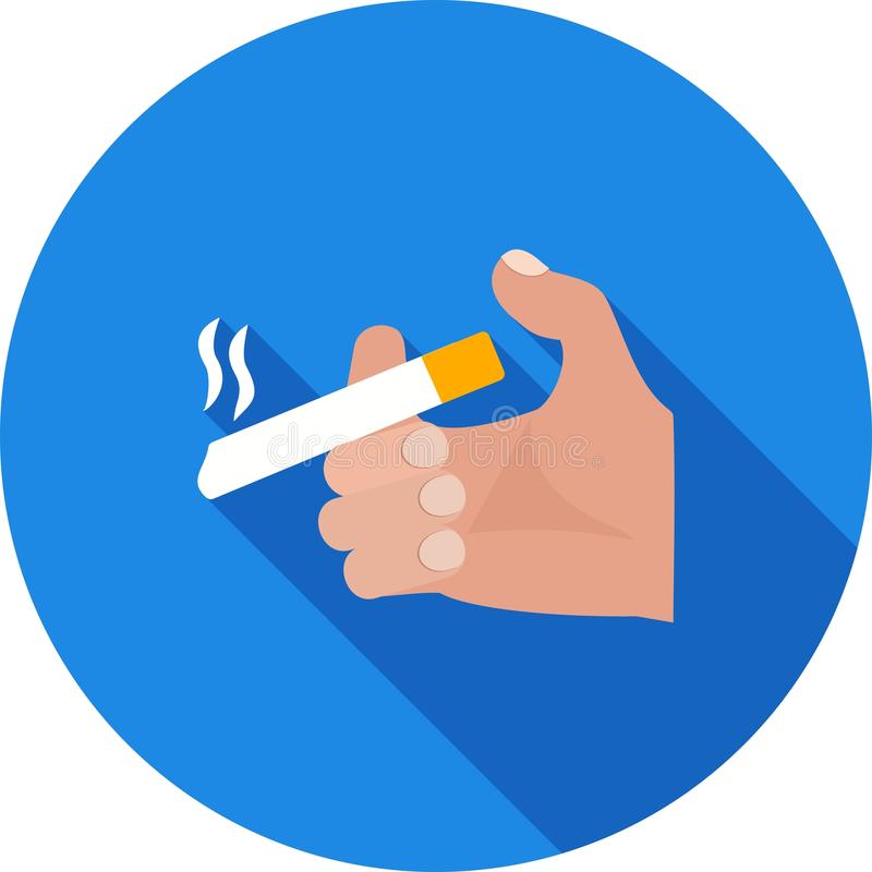 Tenir la cigarette illustration libre de droits