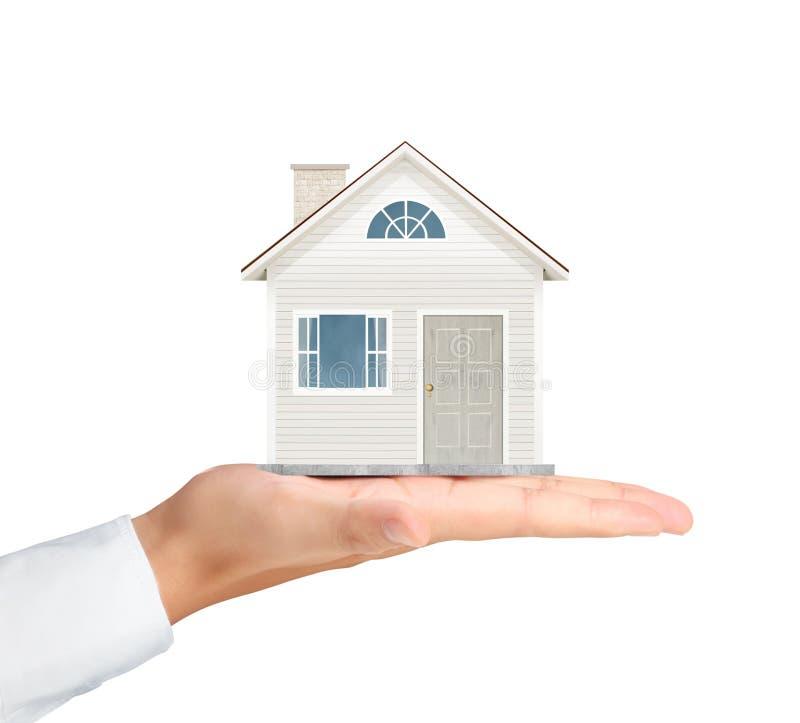 Tenir la maison représentant le propriétaire de logement image stock