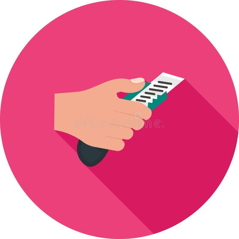 Tenir le coupeur de papier illustration libre de droits