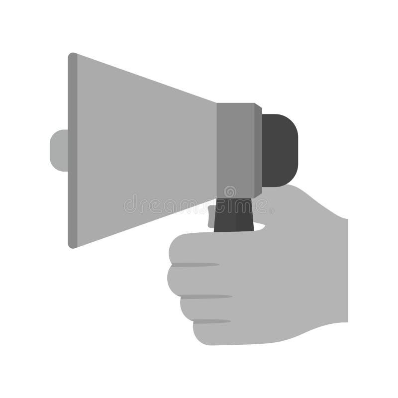 Tenir le haut-parleur illustration libre de droits