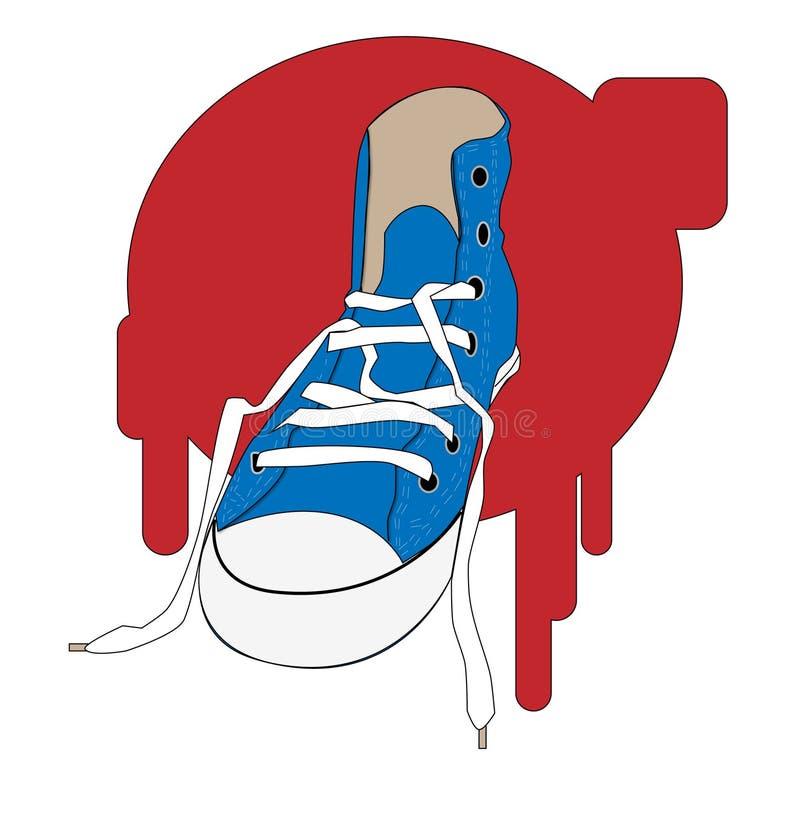 tenisówka ilustracja wektor