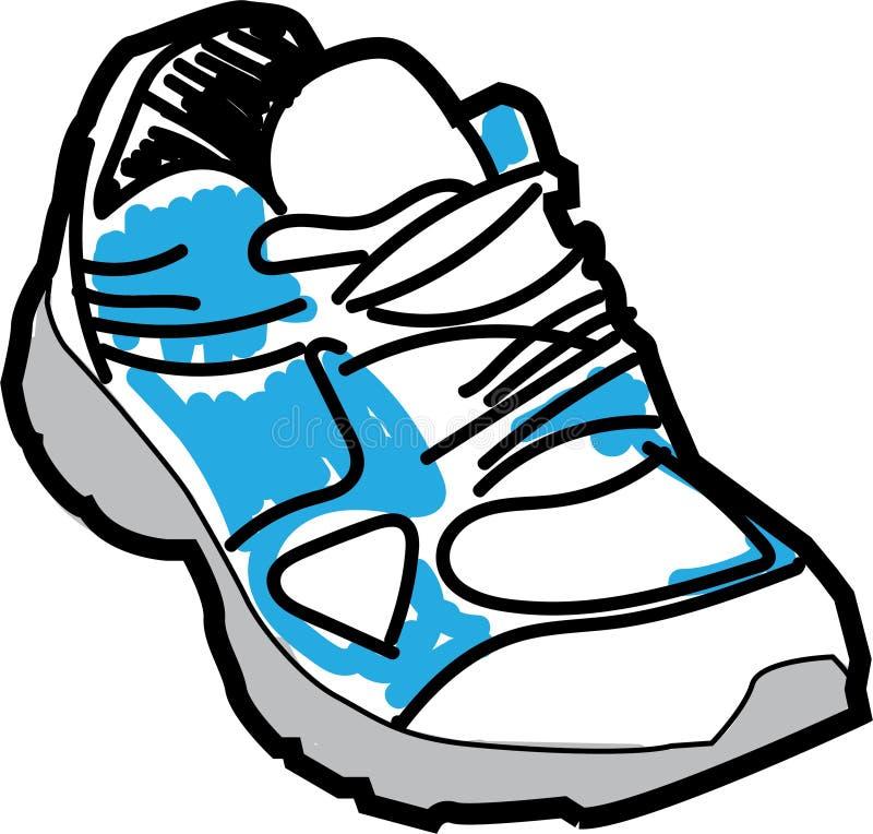 Tenisówka butów nakreślenie ilustracja wektor