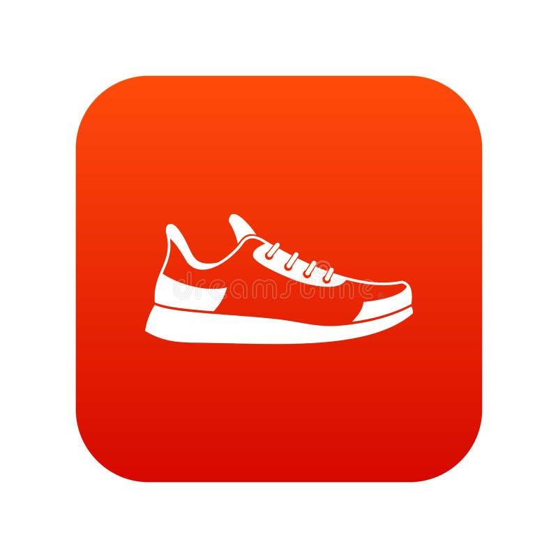 Tenisówka ikony cyfrowa czerwień ilustracja wektor