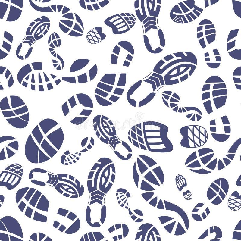 Tenisówka stąpania wzór ilustracja wektor