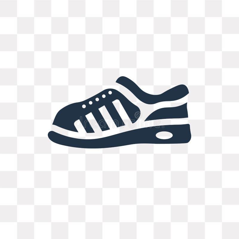 Tenisówka wektorowa ikona odizolowywająca na przejrzystym tle, tenisówka ilustracja wektor