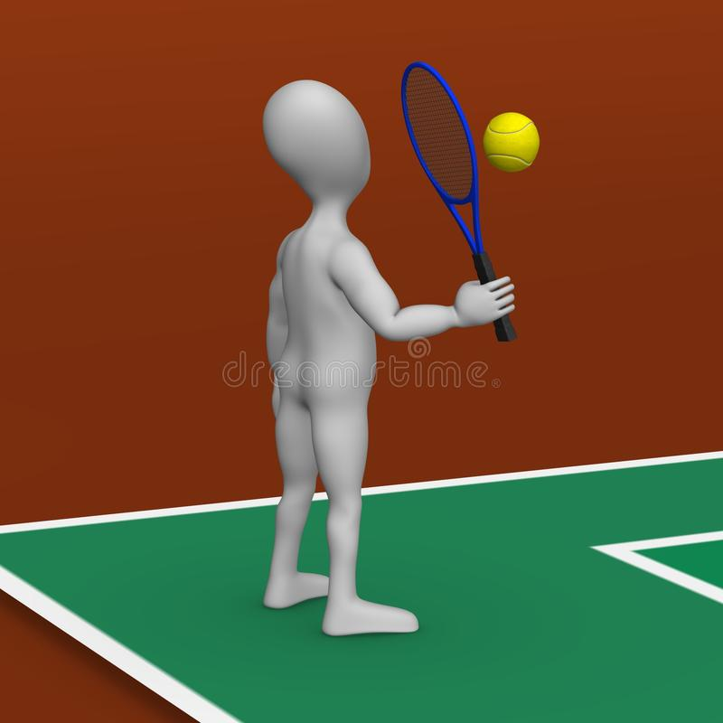 Download Tenis stock illustration. Image of stockie, crowd, field - 14856219