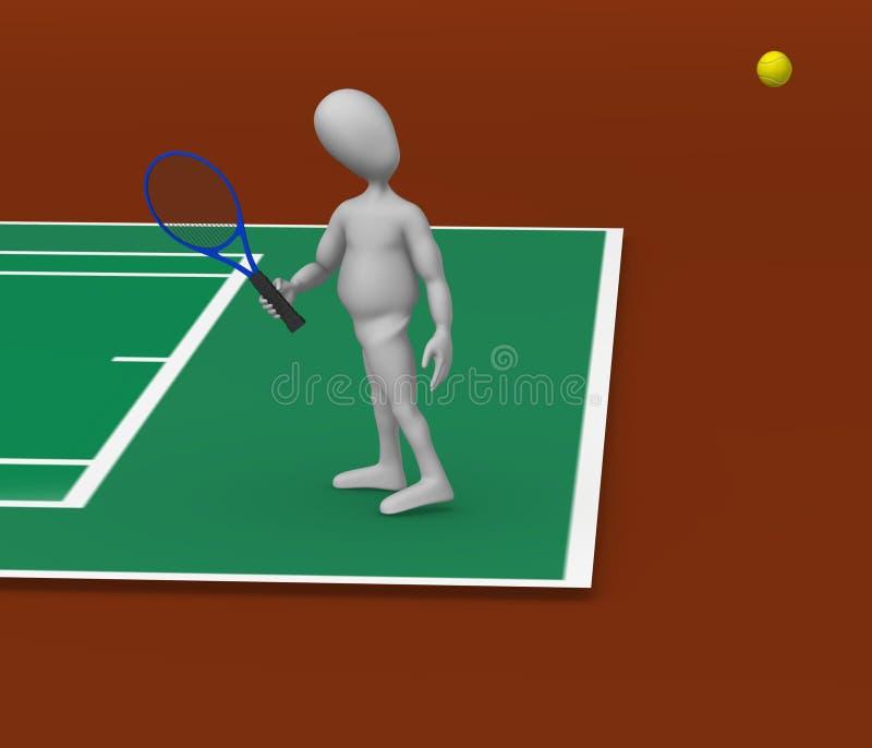 Download Tenis stock illustration. Image of cute, crowd, stadium - 14856229