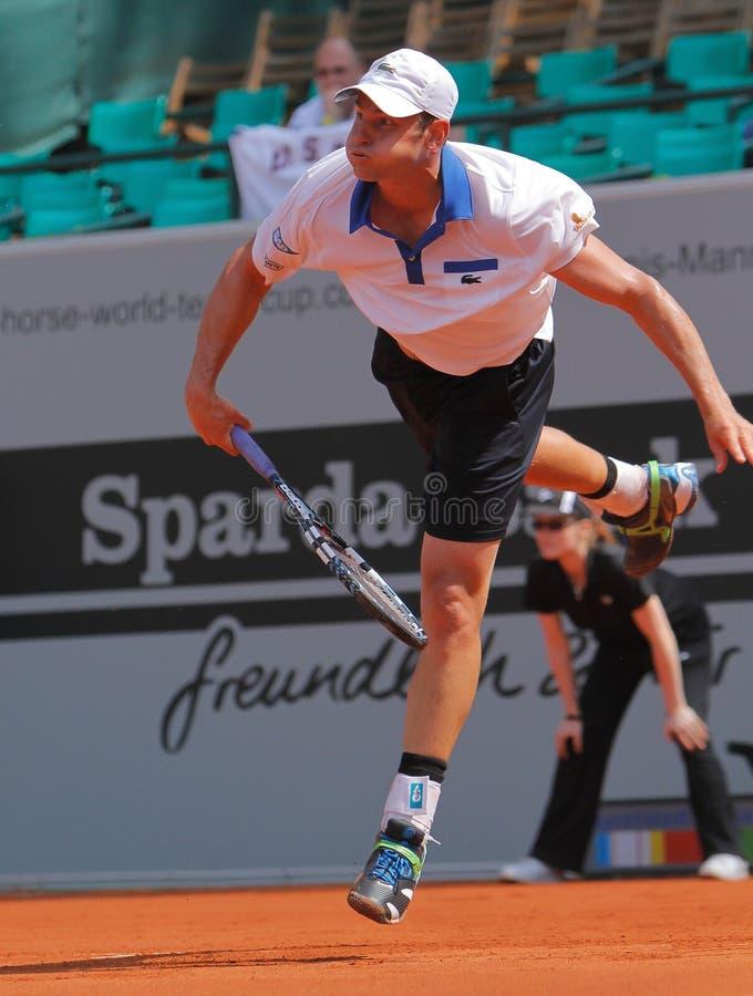 Tenis 2012 de Andrés Roddick imagen de archivo libre de regalías