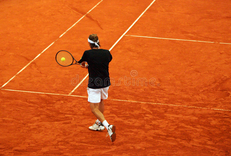 tenis backhand obraz stock