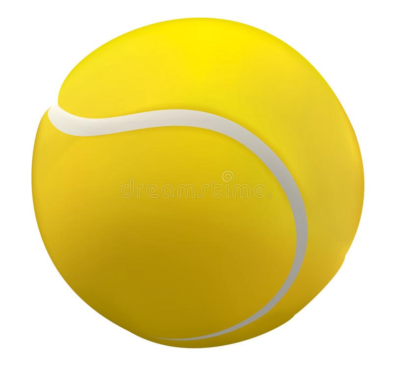 Tenis ball. 3D illustration of a tennis ball close up
