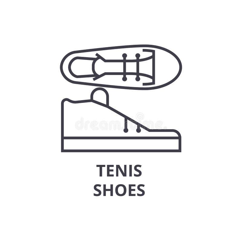 Tenis beschuht Linie Ikone, Entwurfszeichen, lineares Symbol, Vektor, flache Illustration vektor abbildung