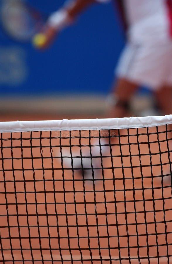 tenis, blisko netto zdjęcia stock