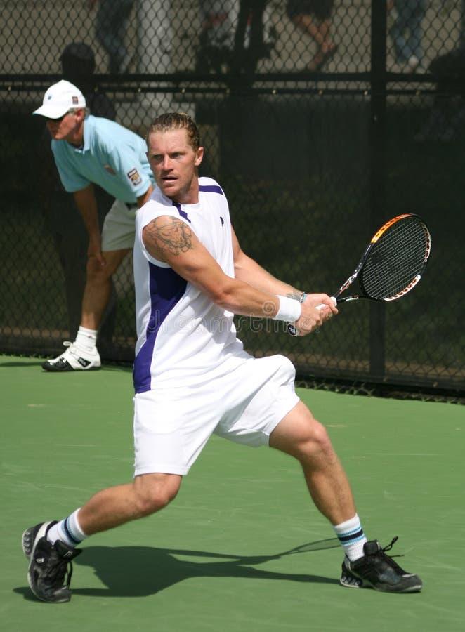tenis Bogomolov alex backhand zdjęcia stock