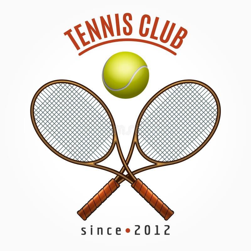 Tenis drużyny klubu etykietka ilustracji
