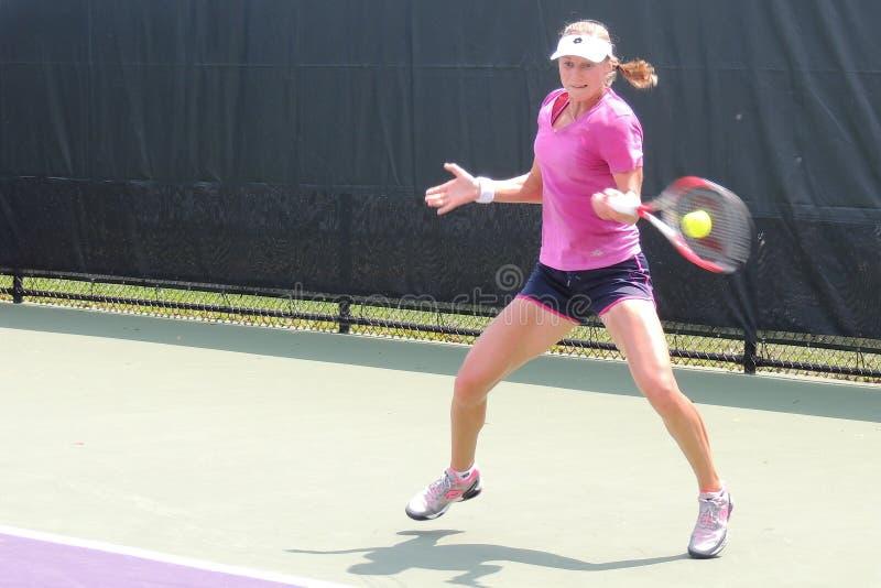 Tenis Ekaterina Makarova profesional de WTA de Rusia foto de archivo libre de regalías