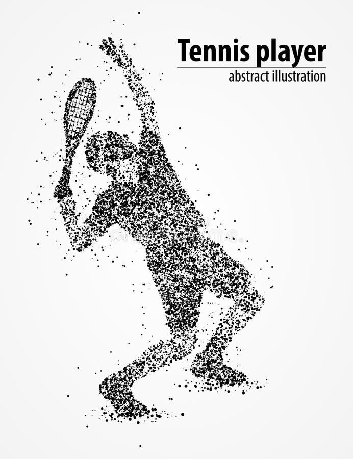 Tenis, extracto, atleta ilustración del vector