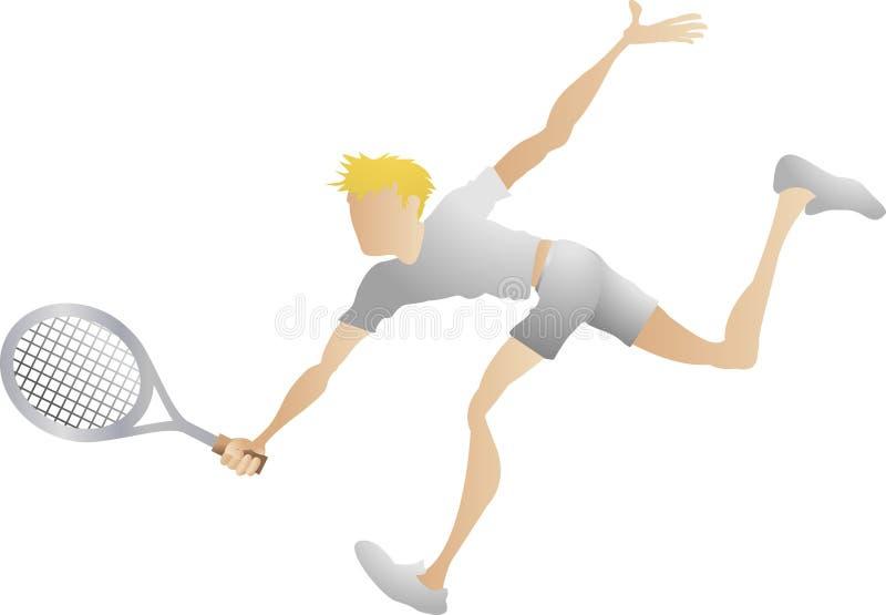 tenis gracza royalty ilustracja