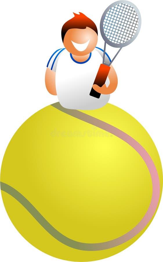 tenis gracza ilustracja wektor