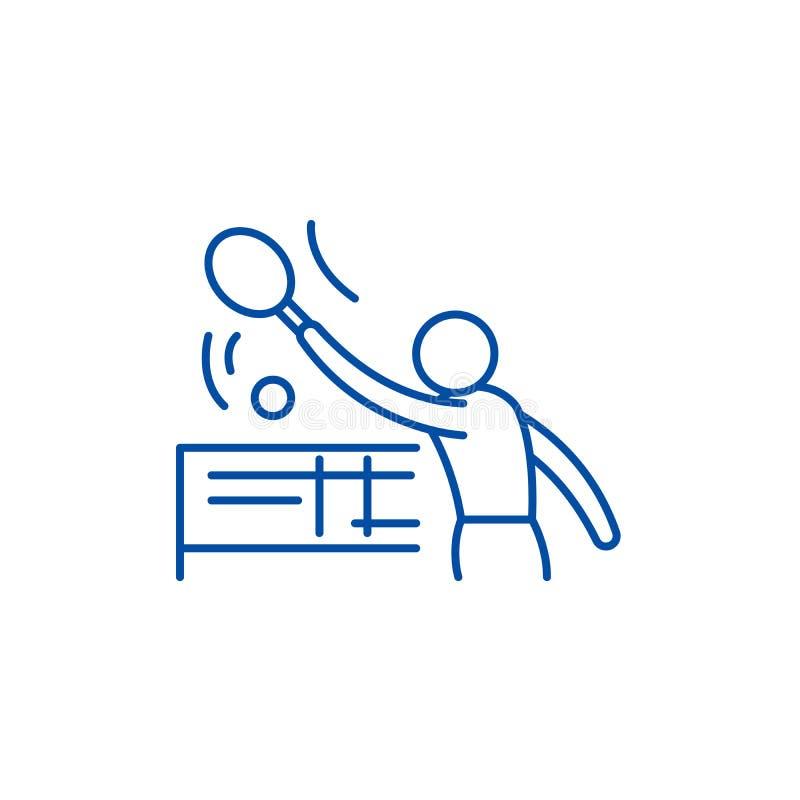 Tenis-Linie Ikonenkonzept Flaches Vektorsymbol Tenis, Zeichen, Entwurfsillustration vektor abbildung