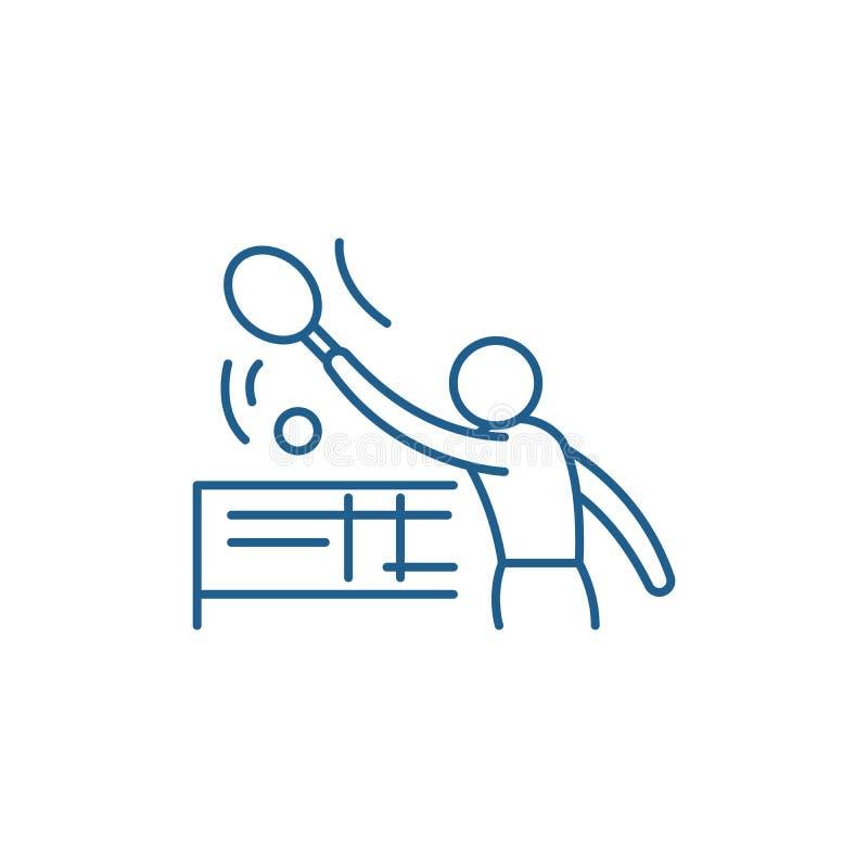Tenis-Linie Ikonenkonzept Flaches Vektorsymbol Tenis, Zeichen, Entwurfsillustration stock abbildung