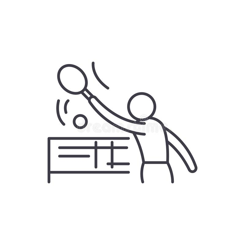 Tenis-Linie Ikonenkonzept Lineare Illustration Tenis-Vektors, Symbol, Zeichen vektor abbildung