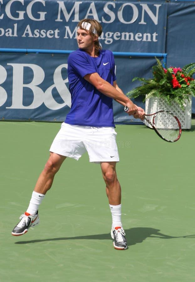 - tenis polansky backhand fotografia stock