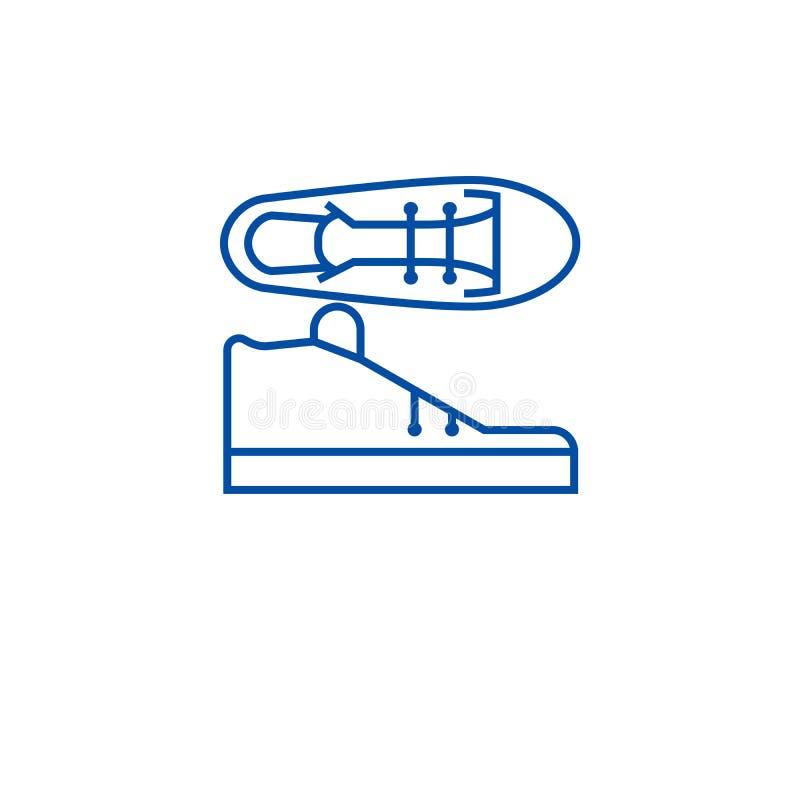 Tenis-Schuhe zeichnen Ikonenkonzept Tenis beschuht flaches Vektorsymbol, Zeichen, Entwurfsillustration lizenzfreie abbildung