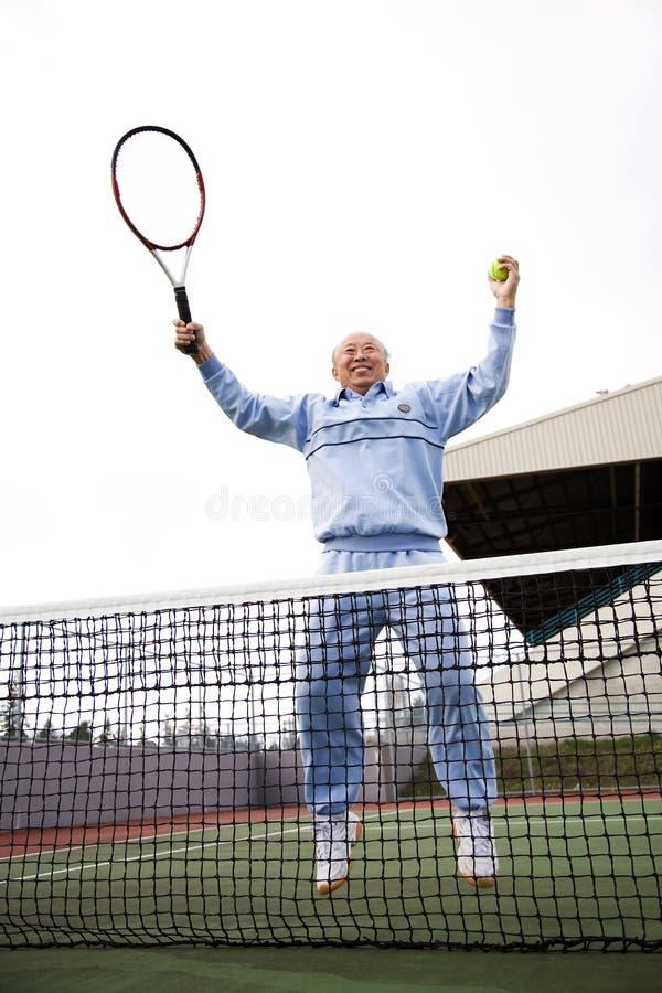 tenis seniora gracza obrazy stock