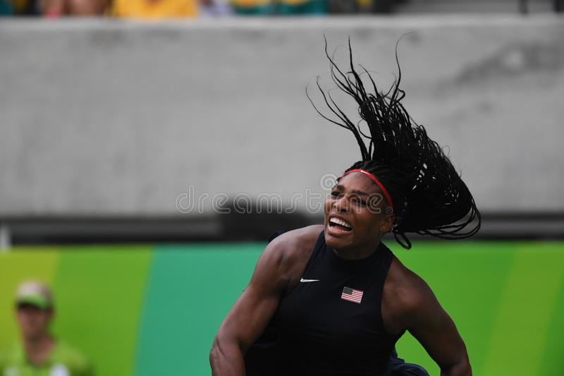Tenis - Serena Williams fotografia royalty free