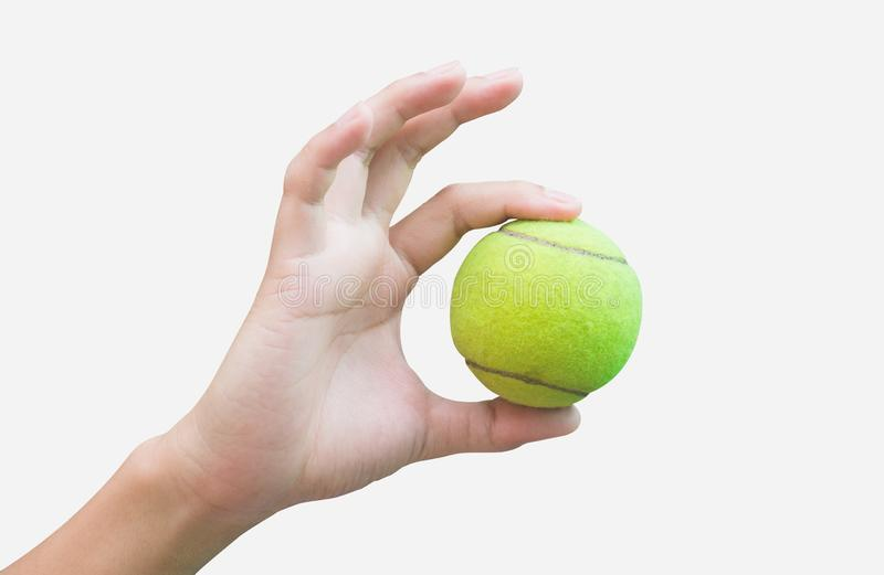 Tenis w ręce obrazy stock