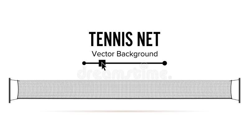 Tenisa Netto wektor Realistyczna sieć Używać W sport grą tenis button ręce s push odizolowana początku ilustracyjna kobieta royalty ilustracja
