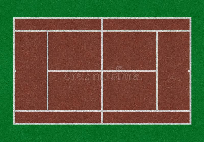 Tenisa pole royalty ilustracja